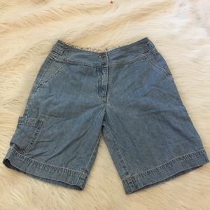 J Jill denim out of the blue jean shorts size 6